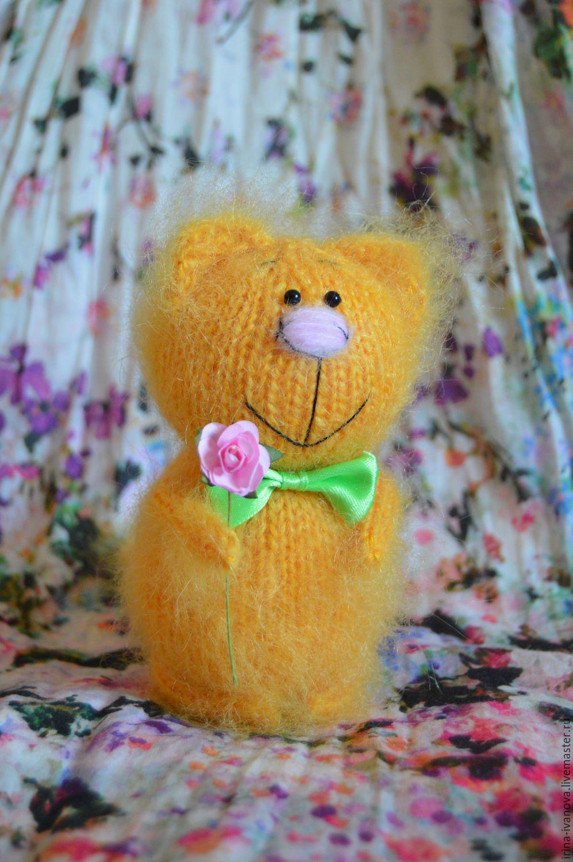 Жёлтый котик. Вязаная игрушка, Игрушки, Красногорск, Фото №1