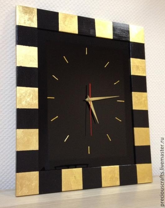 Часы для дома ручной работы. Ярмарка Мастеров - ручная работа. Купить Часы настенные из стекла. Handmade. Золотой, часы интерьерные