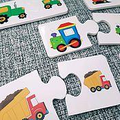 Куклы и игрушки ручной работы. Ярмарка Мастеров - ручная работа Развивающие пазлы для малышей. Handmade.