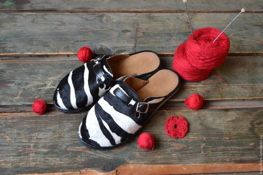 Обувь ручной работы. Ярмарка Мастеров - ручная работа. Купить Обувь для дома Зебра (каваллино). Handmade. Обувь ручной работы