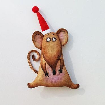 Куклы и игрушки ручной работы. Ярмарка Мастеров - ручная работа Крыска Новогодняя. Handmade.
