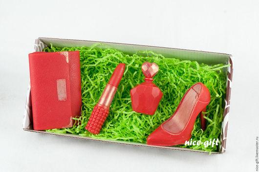 Мыло ручной работы. Ярмарка Мастеров - ручная работа. Купить Подарочный набор мыла для женщин Леди. Handmade. Подарок на новый год