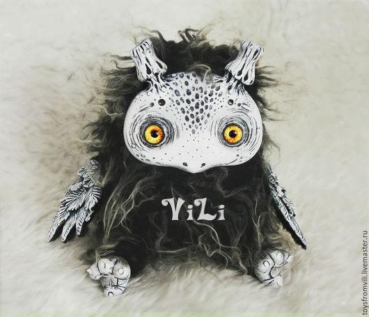 Коллекционные куклы ручной работы. Ярмарка Мастеров - ручная работа. Купить Птенец Пещерник. Handmade. Темно-серый, art doll
