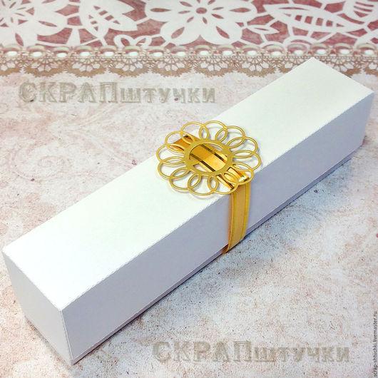 Подарочная упаковка ручной работы. Ярмарка Мастеров - ручная работа. Купить Коробочка 16х3х3 заготовка подарочная упаковка. Handmade. Разноцветный