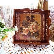 Для дома и интерьера ручной работы. Ярмарка Мастеров - ручная работа «Винтажная роза» поднос, хлебница или сухарница. Handmade.
