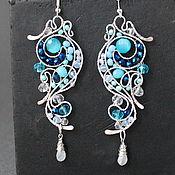 Украшения handmade. Livemaster - original item Earring Pattern On The Glass. Handmade.