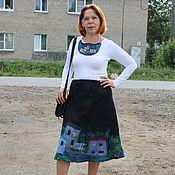 """Одежда ручной работы. Ярмарка Мастеров - ручная работа Валяная юбка """"Любимый город"""". Handmade."""