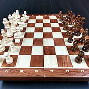 Активный отдых и развлечения handmade. Livemaster - original item Chess Classic, 39x39 cm, made of wood, handmade. Handmade.