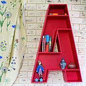 Для дома и интерьера ручной работы. Ярмарка Мастеров - ручная работа Полка - буква А для интерьера, полка для книг. Handmade.