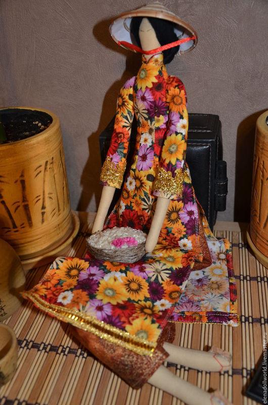 Куклы Тильды ручной работы. Ярмарка Мастеров - ручная работа. Купить Тильда,,Вьетнамская девушка,,. Handmade. Разноцветный, национальный костюм