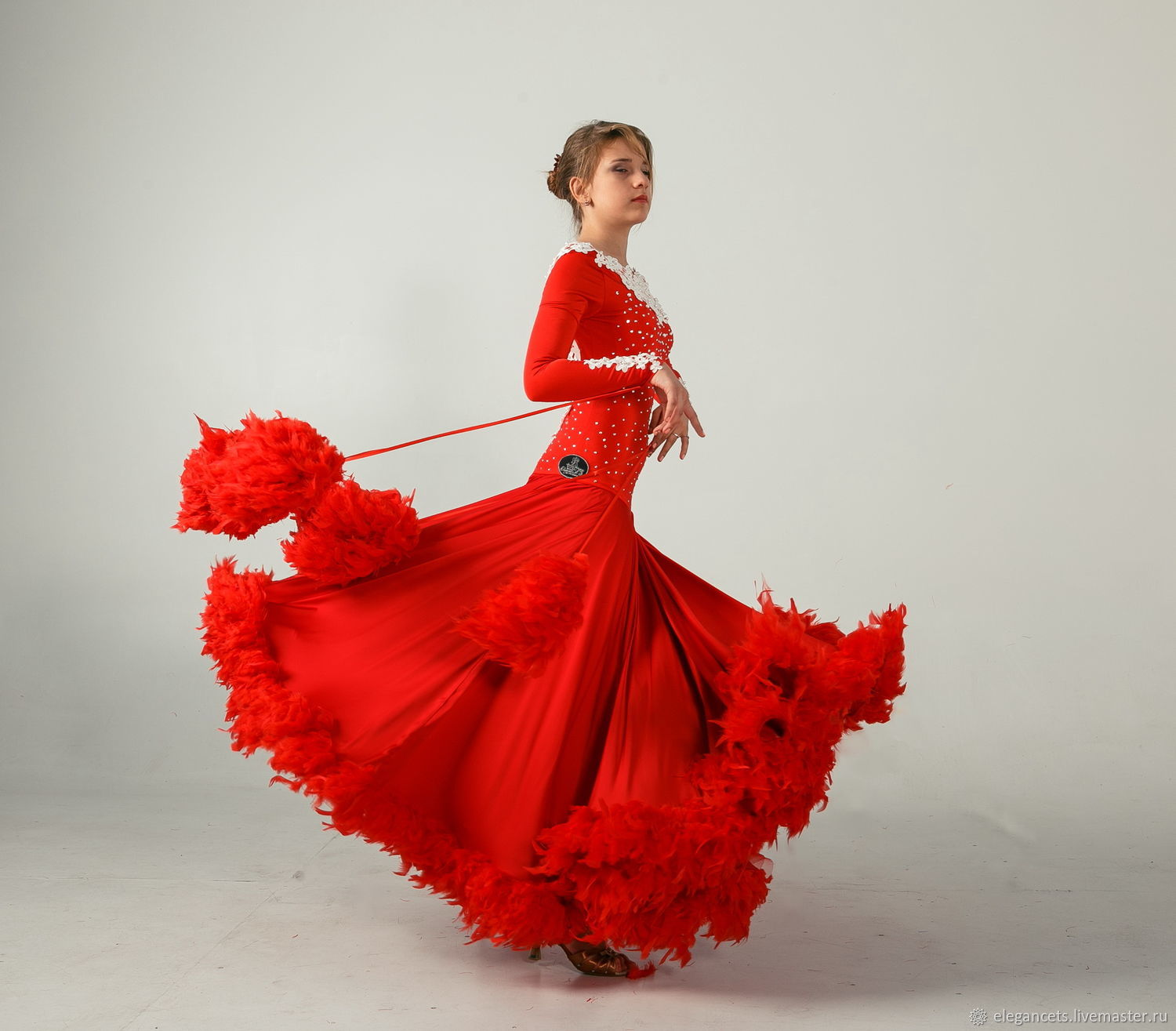 6f373240eee Dance Costumes handmade. Livemaster - handmade. Buy Ballroom dress LACE  MAGIC.Dance ...