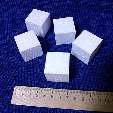 Materials for creativity handmade. Livemaster - original item Cubes of foam of 3 cm (50 pieces). Handmade.