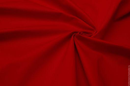 Шитье ручной работы. Ярмарка Мастеров - ручная работа. Купить Итальянский Хлопок Джинса Красная. Handmade. Ярко-красный