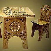 Для дома и интерьера handmade. Livemaster - original item Table and chairs for kids Fabulous sweetie. Handmade.