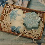 """Мыло ручной работы. Ярмарка Мастеров - ручная работа набор мыла """"ёлочные шары"""". Handmade."""