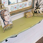 Для дома и интерьера handmade. Livemaster - original item Shelf console with hooks. Handmade.