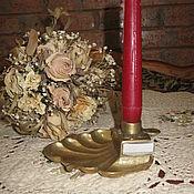 Винтаж ручной работы. Ярмарка Мастеров - ручная работа Антикварная спичечница подсвечник пепельница бронза литьё Франция. Handmade.