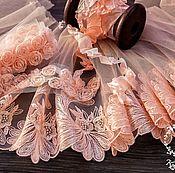 Материалы для творчества ручной работы. Ярмарка Мастеров - ручная работа Кружевной набор 389 вышивка на сетке шебби ленты набор с кружевом. Handmade.