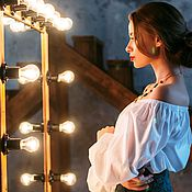 Одежда ручной работы. Ярмарка Мастеров - ручная работа Блуза-пышка со спущенными плечами. Handmade.