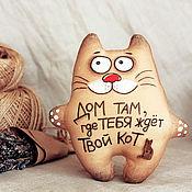 Мягкие игрушки ручной работы. Ярмарка Мастеров - ручная работа Кот Ждун (домашний). Handmade.