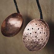 Утварь ручной работы. Ярмарка Мастеров - ручная работа Набор кованых кухонных принадлежностей, медные приборы, медная утварь. Handmade.