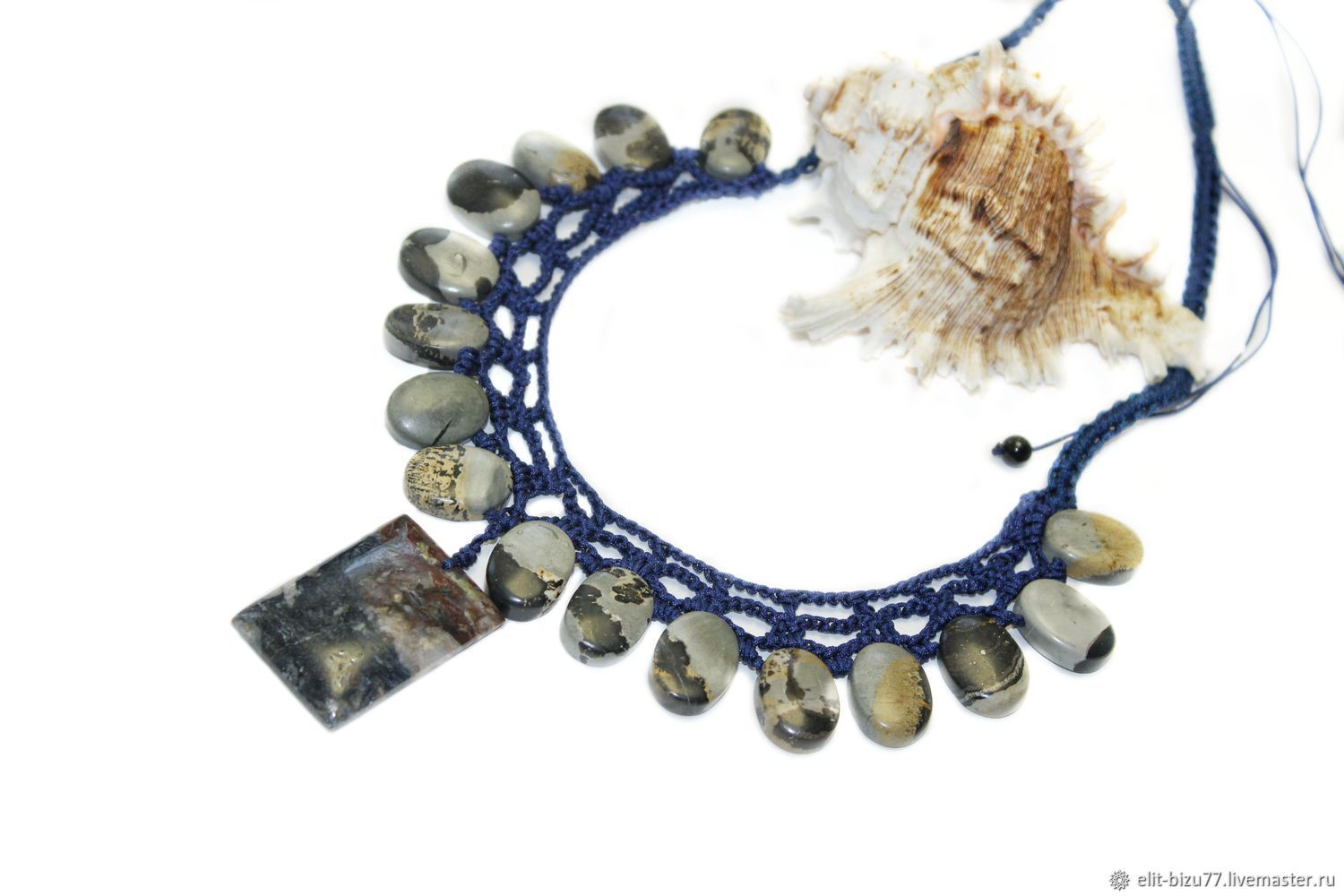 The necklace Can be made of chohua Jasper and petersite, Necklace, ,  Фото №1