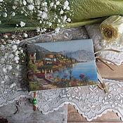 """Канцелярские товары ручной работы. Ярмарка Мастеров - ручная работа Блокнот""""Альпийский пейзаж"""". Handmade."""