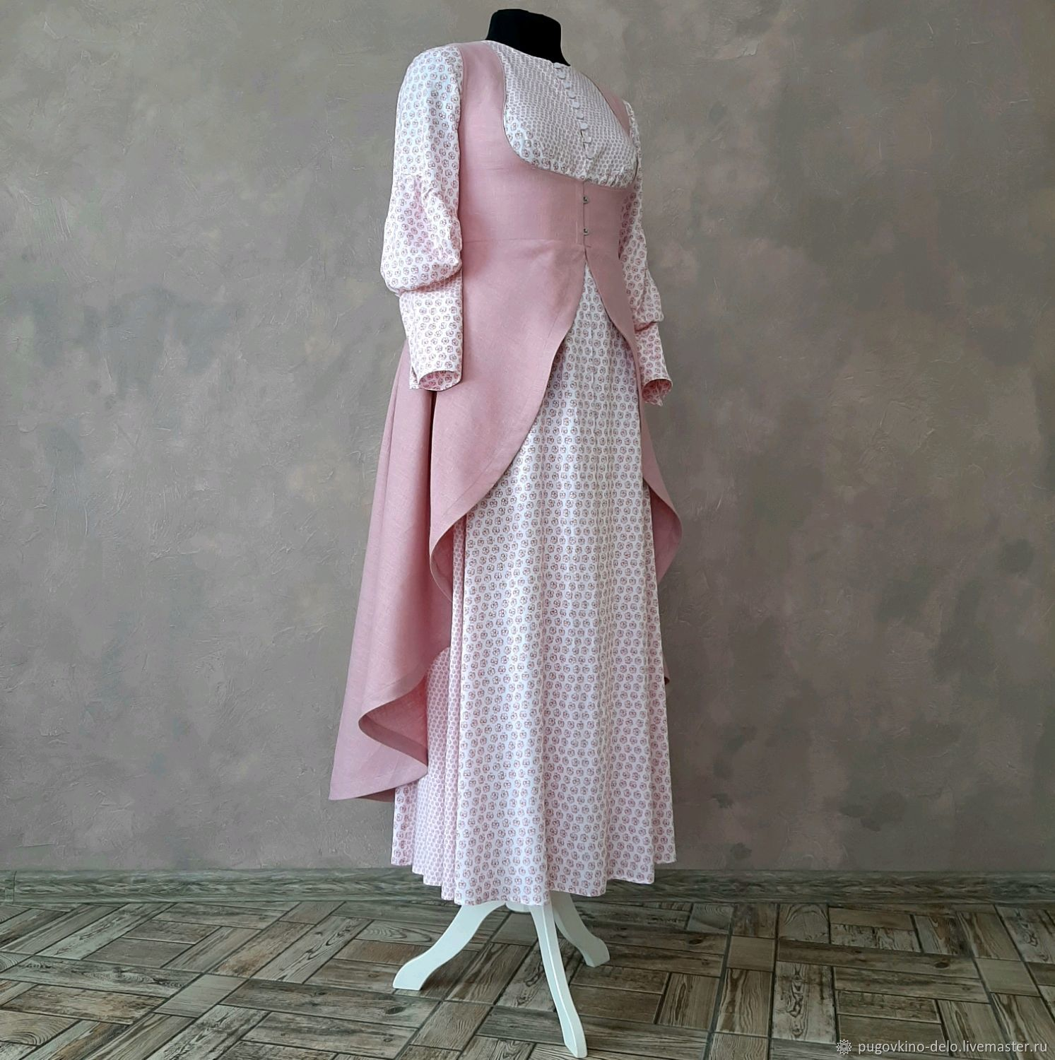 Dress made of linen with a clasp Busk, Sundresses, Kemerovo,  Фото №1