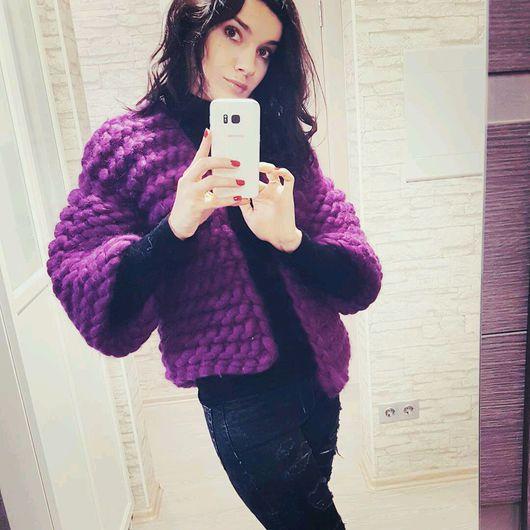 """Верхняя одежда ручной работы. Ярмарка Мастеров - ручная работа. Купить Пальто """"Меринос"""". Handmade. Фиолетовый, пальто демисезонное"""