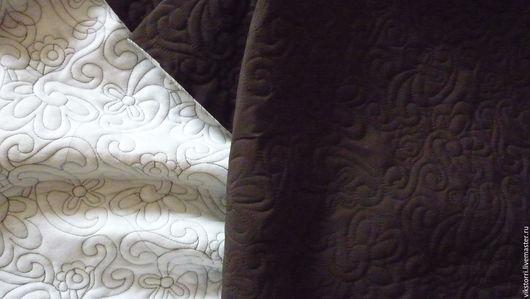Шитье ручной работы. Ярмарка Мастеров - ручная работа. Купить Курточная стеганая ткань коричневая (Италия). Handmade. Коричневый