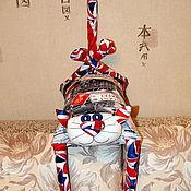 """Сувениры и подарки ручной работы. Ярмарка Мастеров - ручная работа Игрушка-подушка """"Радужный кот"""" английский джентльмен. Handmade."""
