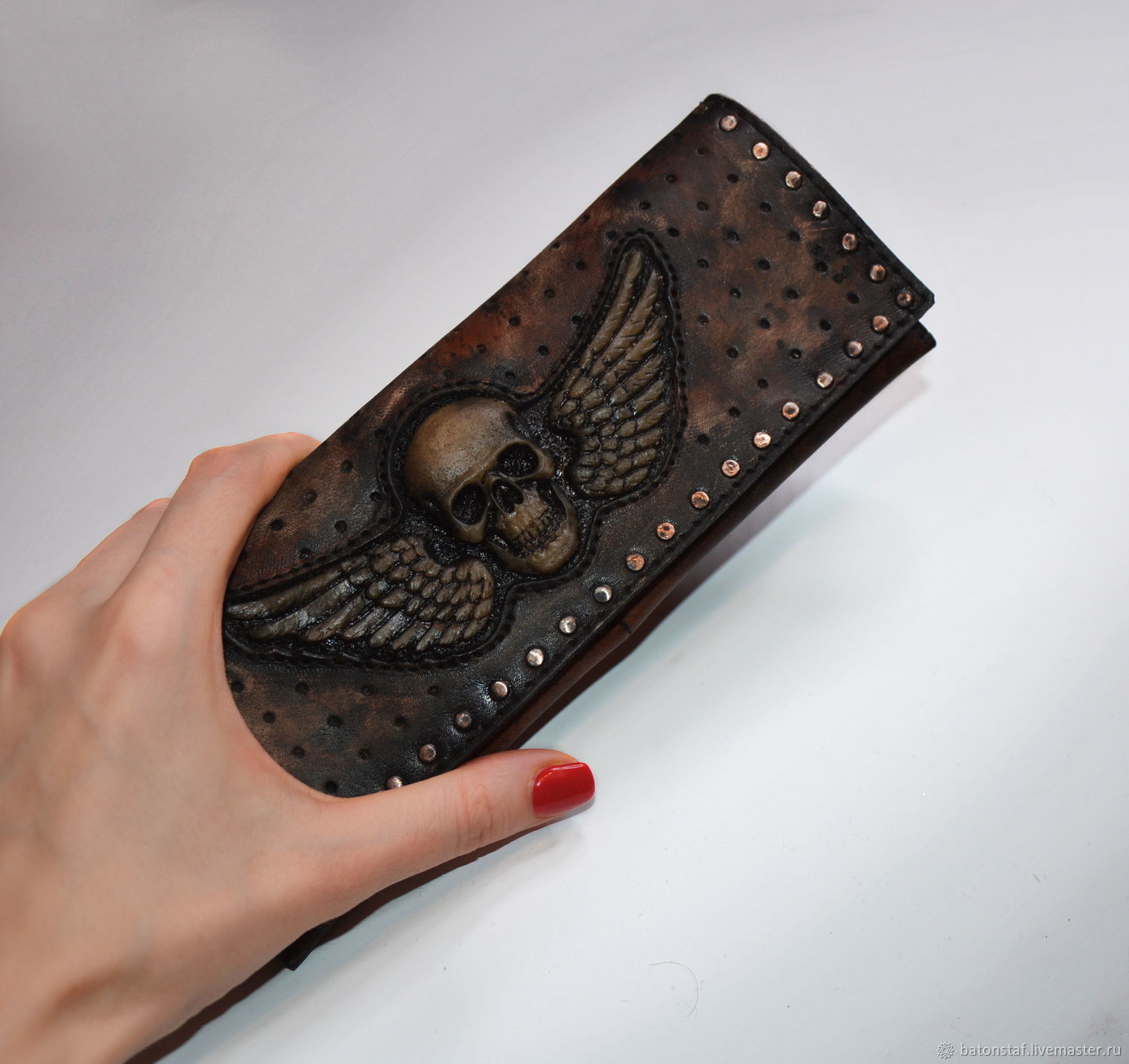 Men's leather wallet, Subculture Attributes, Moscow,  Фото №1