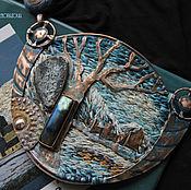"""Украшения ручной работы. Ярмарка Мастеров - ручная работа """"Kilchurn Caisteal. Joel"""" колье медно-вышитое. Handmade."""