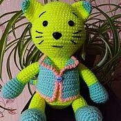 Мягкие игрушки ручной работы. Ярмарка Мастеров - ручная работа Мягкие игрушки: котик. Handmade.