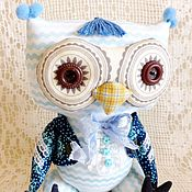 Куклы и игрушки ручной работы. Ярмарка Мастеров - ручная работа Игрушкая текстильная Совенок по имени Моцарт. Handmade.