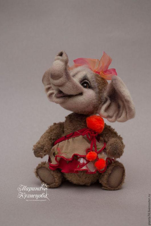 Мишки Тедди ручной работы. Ярмарка Мастеров - ручная работа. Купить Слоник-тедди Марфуша. Handmade. Бежевый, слоник девочка