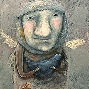 Картины и панно ручной работы. Ярмарка Мастеров - ручная работа Зимние голуби. Handmade.
