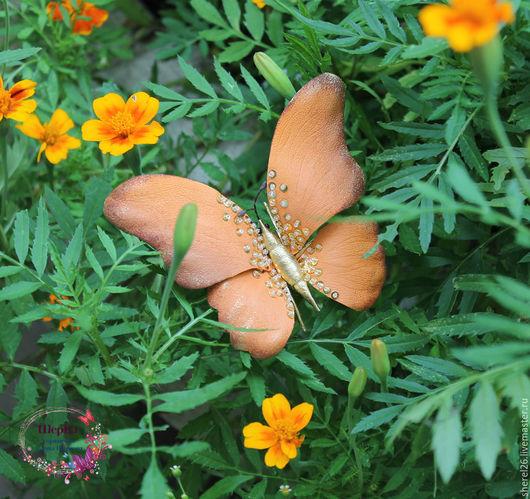 """Броши ручной работы. Ярмарка Мастеров - ручная работа. Купить Брошь бабочка из кожи """"Аглая"""". Handmade. Бабочка, брошь из кожи"""