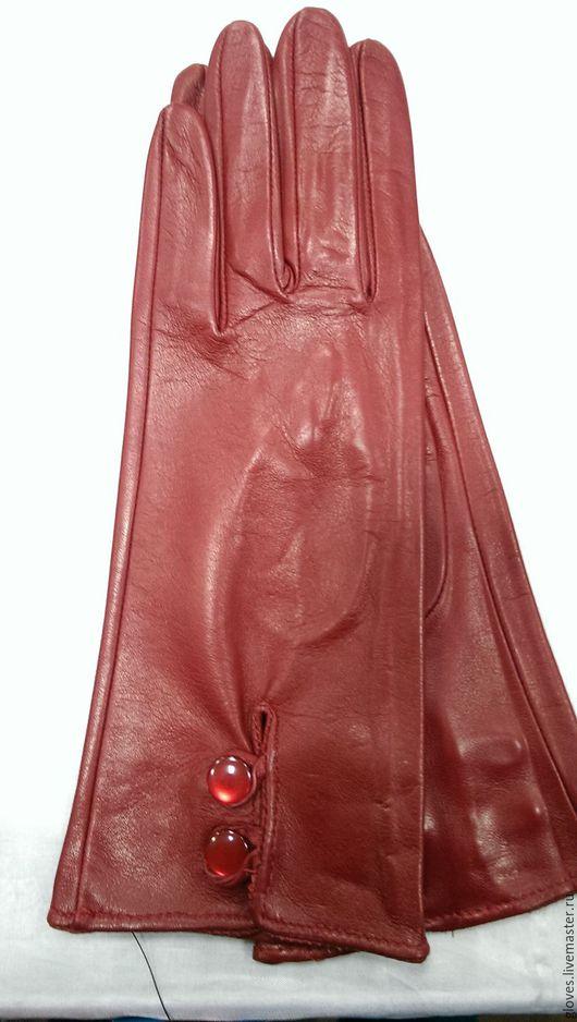 Варежки, митенки, перчатки ручной работы. Ярмарка Мастеров - ручная работа. Купить Перчатки женские без подкладки (2 пуговицы). Handmade.