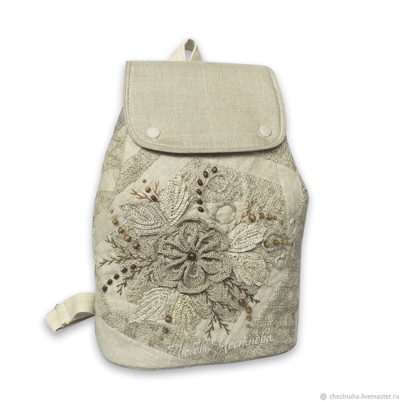Рюкзак льняной женский Нежность, Рюкзаки, Кострома,  Фото №1