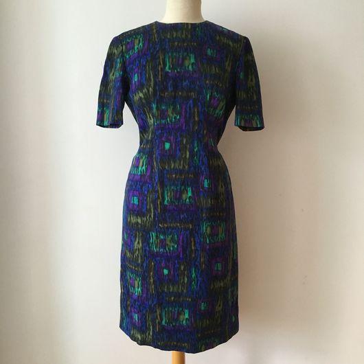 Одежда. Ярмарка Мастеров - ручная работа. Купить Винтажное платье 1960'х годов. Handmade. Винтажное платье, фиолетовое платье