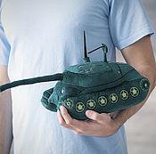 Куклы и игрушки ручной работы. Ярмарка Мастеров - ручная работа Плюшевая игрушка танк ИС-7. Handmade.