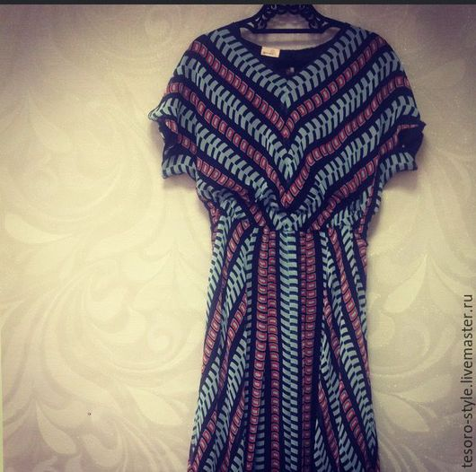 Платья ручной работы. Ярмарка Мастеров - ручная работа. Купить Летящая Полоска (платье). Handmade. Комбинированный, натуральный шелк