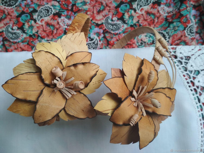 Заказать цветы из бересты своими руками, невесты нежно