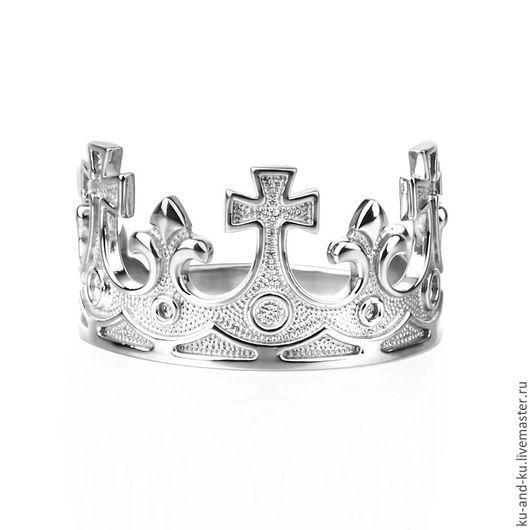 Кольца ручной работы. Ярмарка Мастеров - ручная работа. Купить Кольцо. Корона без вставок. (KU&KU, Ку-энд-Ку). Handmade.