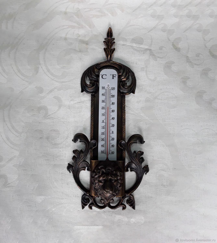 Кованые термометр со львом, Изделия, Москва, Фото №1