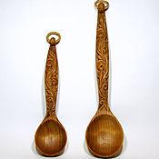 Для дома и интерьера ручной работы. Ярмарка Мастеров - ручная работа Ложка деревянная, резная (в наличии большая). Handmade.