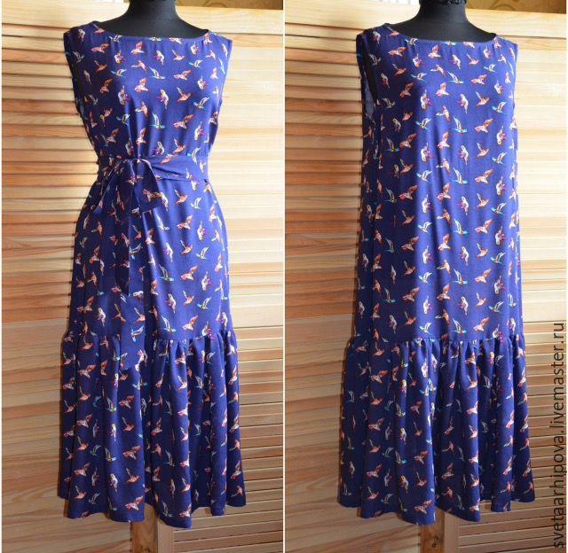 Простое летнее платье из штапеля
