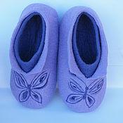 Обувь ручной работы. Ярмарка Мастеров - ручная работа Тапочки двойные утепленные. Handmade.