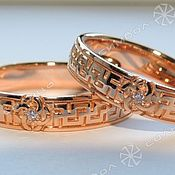Русский стиль handmade. Livemaster - original item Rings of well-Being with a wedding Planner (3). Handmade.